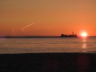 coucher de soleil boulogne sur mer © nono