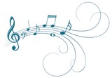 Symbol with music notes. - 215770688