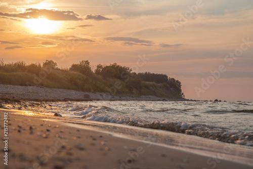 Fotobehang Zee zonsondergang sunset over the sea