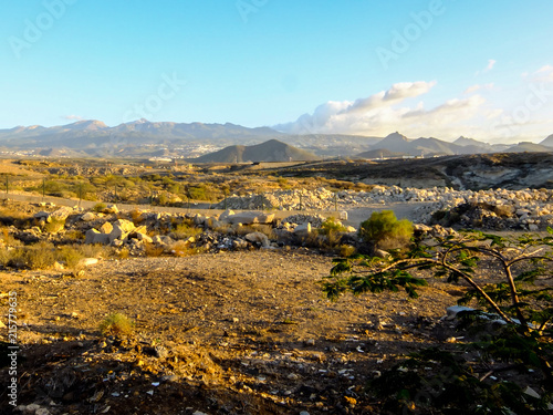 Plexiglas Pool Landscape in Tropical Volcanic Canary Islands Spain