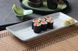 salmon make sushi roll
