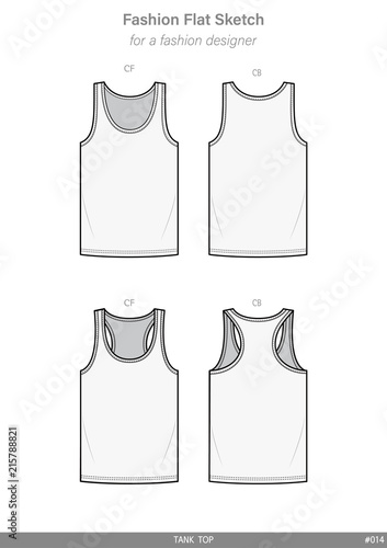 Sleeveless tank top fashion flat sketches technical drawings teck sleeveless tank top fashion flat sketches technical drawings teck pack illustrator vector template maxwellsz