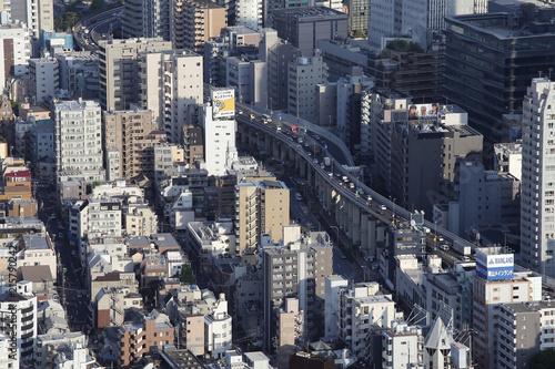 Canvas Tokio Panoramic view of Tokyo city in Japan