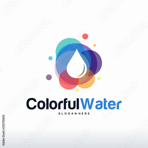 Colorful Water Logo Designs Concept Vector Water Droplet Logo