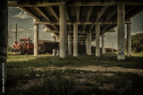 Foto Spatwand Oude verlaten gebouwen industry