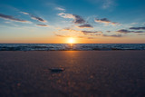 Traumhafter Sonnenuntergang Strand Nordsee