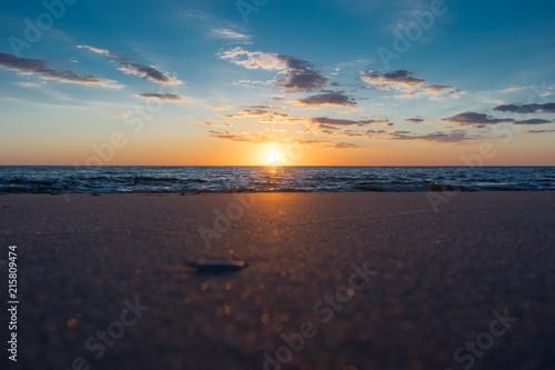 Aluminium Noordzee Traumhafter Sonnenuntergang Strand Nordsee