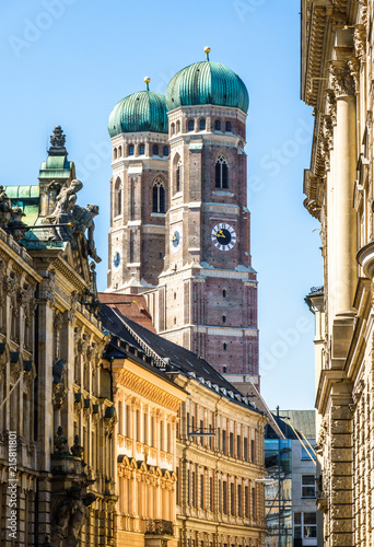 Poster Famous Munich Cathedral - Liebfrauenkirche