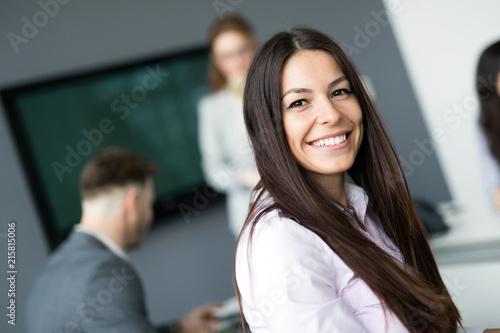 Leinwandbild Motiv CEO of company in business offices