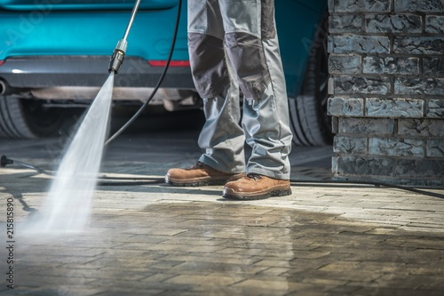 Stone Driveway Cleaning