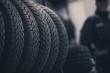 Leinwandbild Motiv Winter Season Tire Tread
