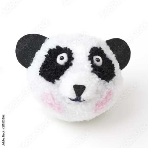 Fotobehang Panda Pompon Pandabär