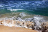 Wave crashes on to the shore. Caribian sea - 215825855