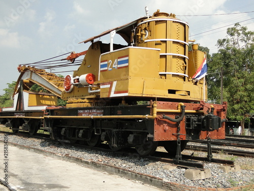 Old train crane