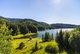Landscape with Vidra dam lake in Parang mountains, Romania - 215837246