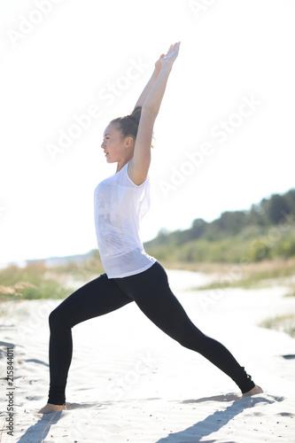 Sticker Yoga on the beach