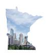 Minneapolis MN downtown skyline