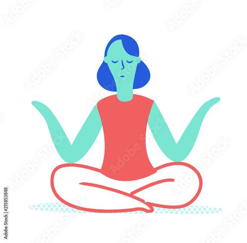 Naklejka joga, medytacja