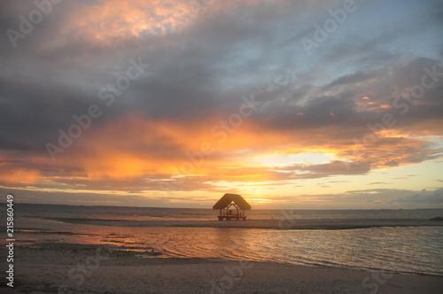 Fotobehang Zee zonsondergang sunset MT hut