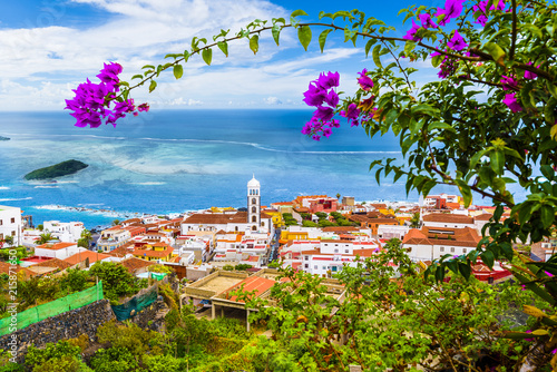 Leinwanddruck Bild View of Garachico town of Tenerife, Canary Islands, Spain