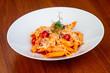 Delicious penne pasta - 215876244