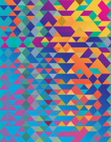 Abstract vibrant colorful triangle shapes vector background. - 215900664