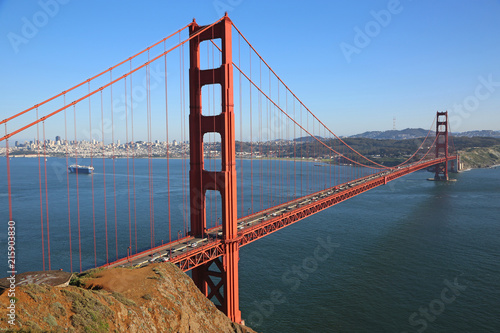Canvas San Francisco Golden Gate Bridge from Battery Spencer - San Francisco, California
