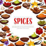 Vector poster of spices and seasonings - 215909277