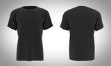 Tshirt Black color front & black / 3D Render - 215913207