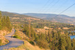 View of Naramata Road looking south toward vineyards and orchards on the Naramata Bench