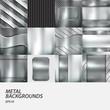 metal backgrounds set