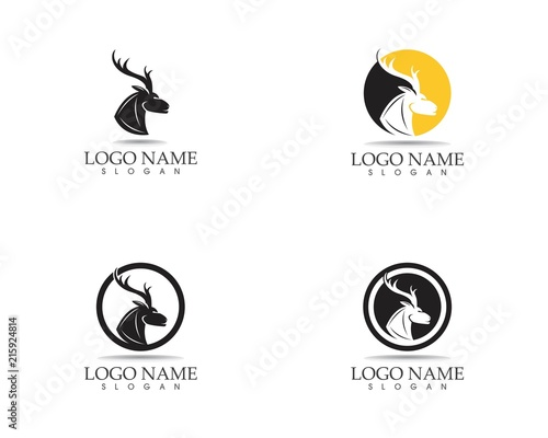 Deer head icon logo design vector illuistration