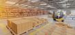 Leinwandbild Motiv Warehouse goods stock background 3d rendering