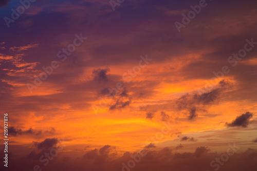Canvas Oranje eclat sunset and sunrise sky. orange sunset sky. Beautiful sky.