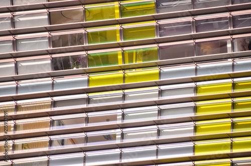 Foto Murales Windows Texture Building