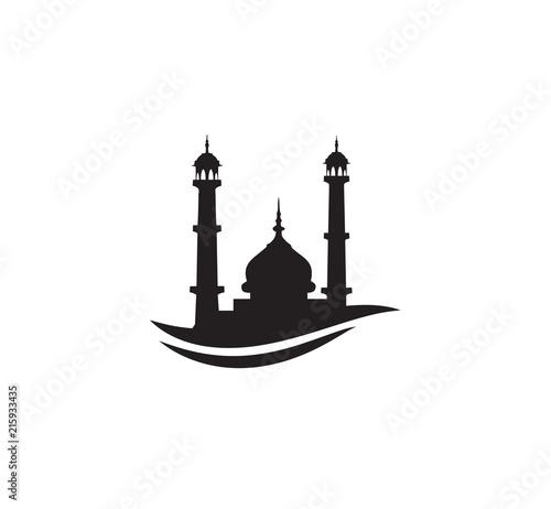 Black Silhouette Mosque Sign Logo Symbol Vector Design Buy Photos