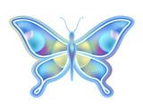 blue flying butterfly