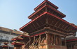 Buddhist pagodas in the center of Kathmandu