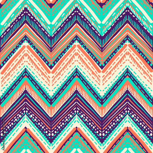 Abstract Ikat and boho style handcraft fabric pattern. Traditional Ethnic design for clothing and textile background, carpet or wallpaper - 215953277