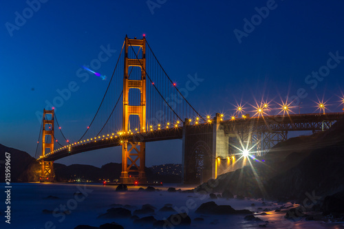 Golden Gate in San Francisco by night