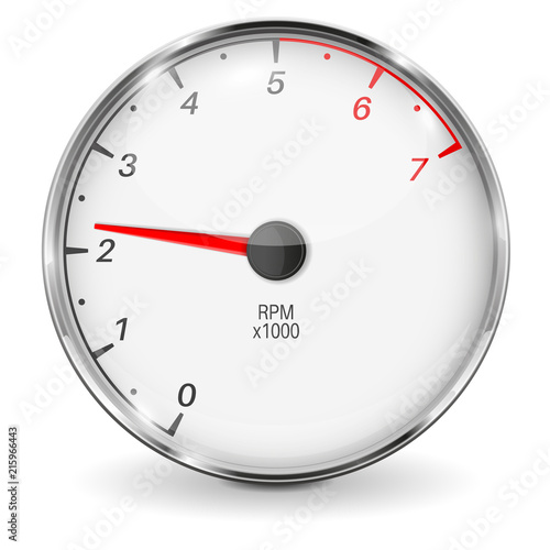 Tachometer. 3d vehicle gauge