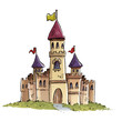 Leinwanddruck Bild castillo medieval