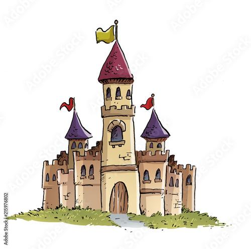 Leinwanddruck Bild - cirodelia : castillo medieval