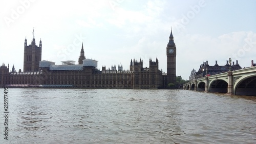 Foto Spatwand London Big ben et le parlement
