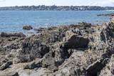 Côte de l'océan Atlantique, France, Finistère, - Côte rocheuse et la mer