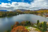 Lake Junaluska Drone Aerial - 215978621