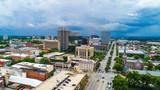 Drone Aerial of Downtown Columbia South Carolina SC Skyline - 215981226