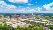 Drone Aerial of Downtown Greenville South Carolina SC Skyline