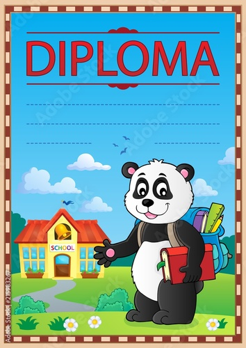 Canvas Voor kinderen Diploma design image 4