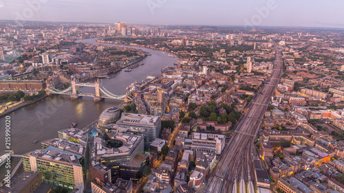 Plexiglas London London von Oben/London bridge